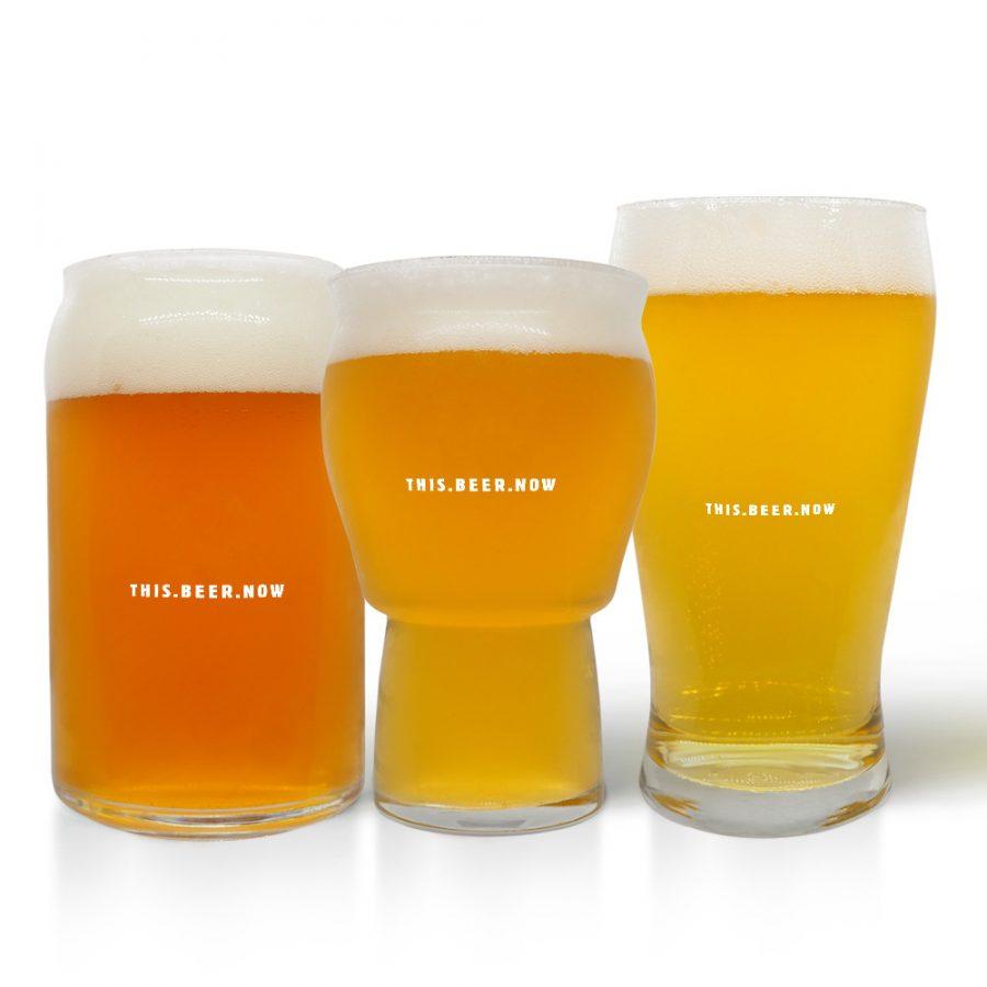 Suds Slinger Glass Beer Set Back