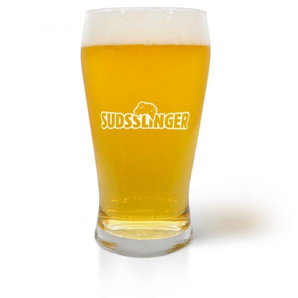 Suds Slinger Pub Craft Beer Glass